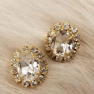 Crystal Costume Stud Earrings